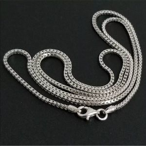 Other - 925 Sterling Silver 1.5mm Box Chain Necklace